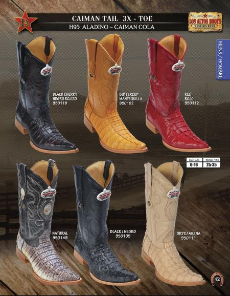 3X Toe Genuine Caiman TaMens Western Cowboy Boots Diff.Colors/Sizes