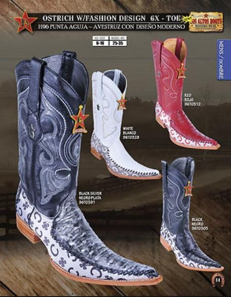 6X Toe Genuine Ostrich Mens Western Cowboy Boots Diff.Colors/Sizes