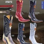 9X Toe Genuine Ostrich Leg Mens Western Cowboy Boots Diff.Colors/Size