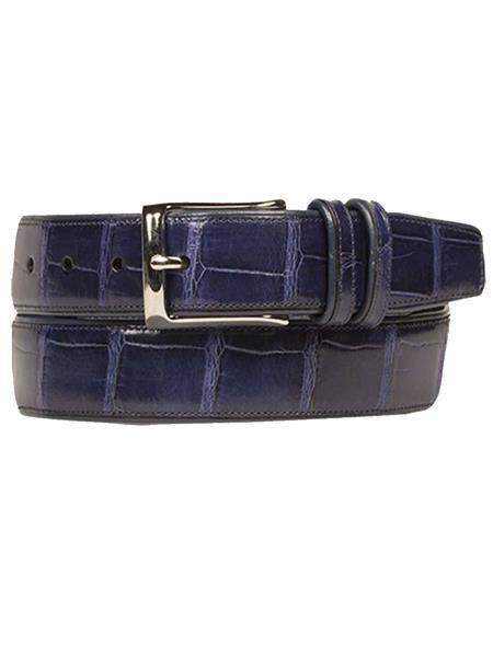 Mezlan Belts Brand Men's Genuine World Best Alligator ~ Gator Skin / Calfskin Jean Skin Belt