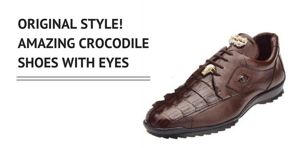 Alligator Shoes with Eyes - Wearing Something Prehistoric