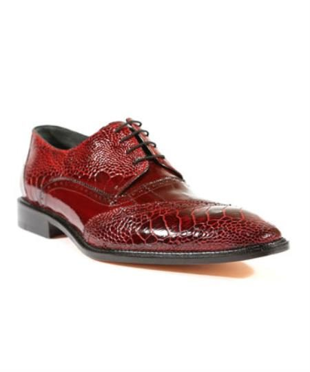 Mens Nino Antique Red / Scarlet Red Oxford Belvedere Shoes