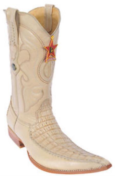 Men's caiman ~ World Best Alligator ~ Gator Skin Tail Croc Oryx Beiges Los Altos Cowboy Boots Western Riding