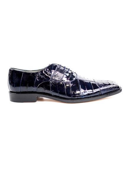 Men's Belvedere Fashionable Black Lace Up Dress Shoes