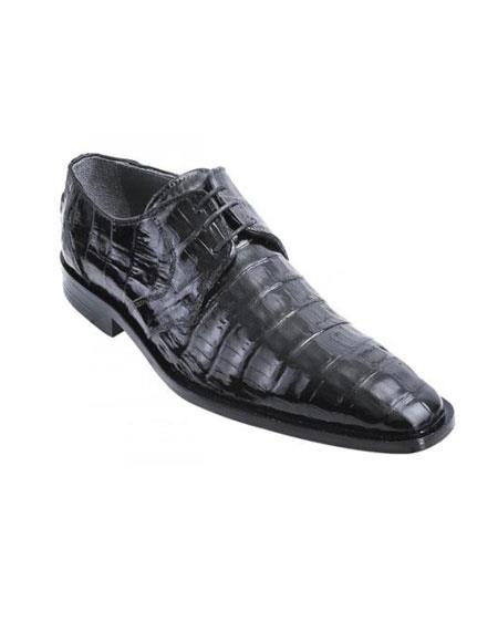 Black Genuine Crocodile World Best Alligator Gator Skin Shoes