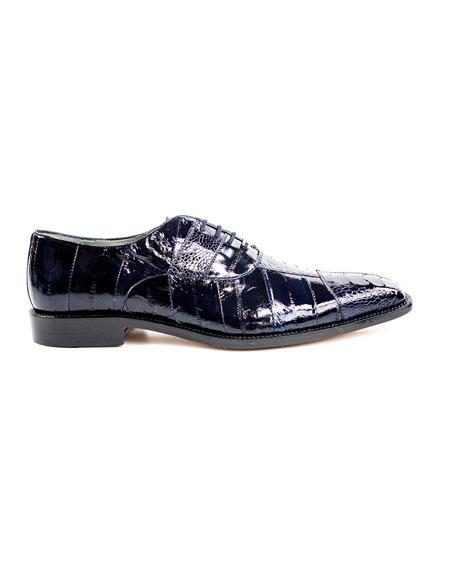 Men's Belvedere Lace Up Navy Fashionable Dress Shoes
