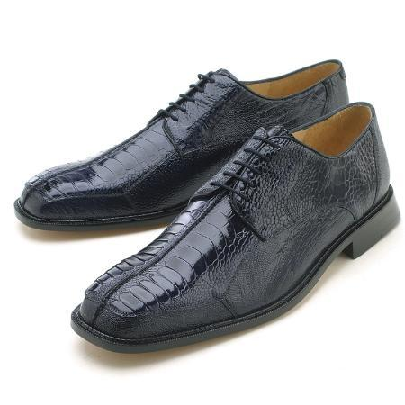 Navy, Genuine Ostrich Leg by Belvedere