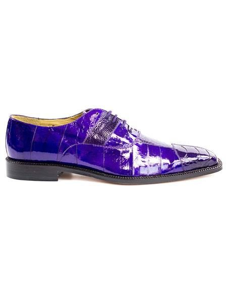 Men's Belvedere Lace Up Purple Fashionable Dress Shoes