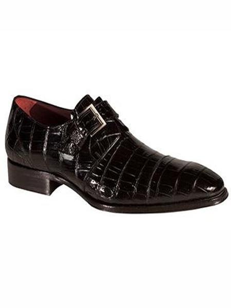 Mezlan Brand Berlin Style Black Genuine World Best Alligator ~ Gator Skin Shoes