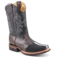 King Exotic Black & Brown Genuine Stingray mantarraya skin Boot