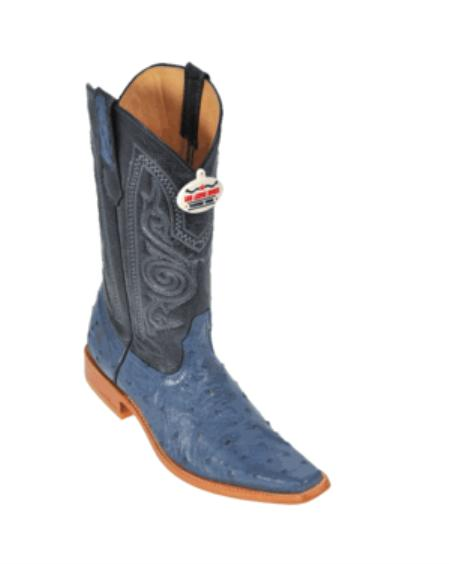 Blue Jean Ostrich Cowboy Boots