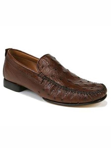 Mezlan Brand Brown Genuine Ostrich Shoes