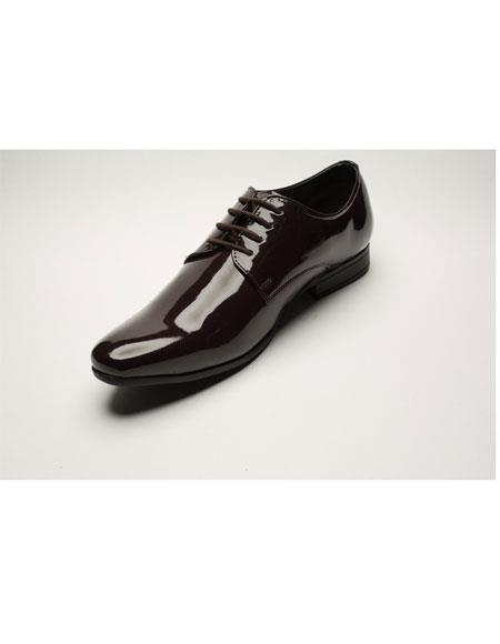 Men's Two Toned Fashion Brown Wing Tip Dress Shoes