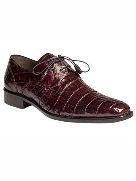 Mezlan Brand Burgundy Genuine Crocodile Wrapped Tassel Shoes