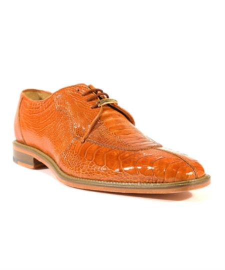 Mens Siena Burned Amber Oxford Belvedere Shoes