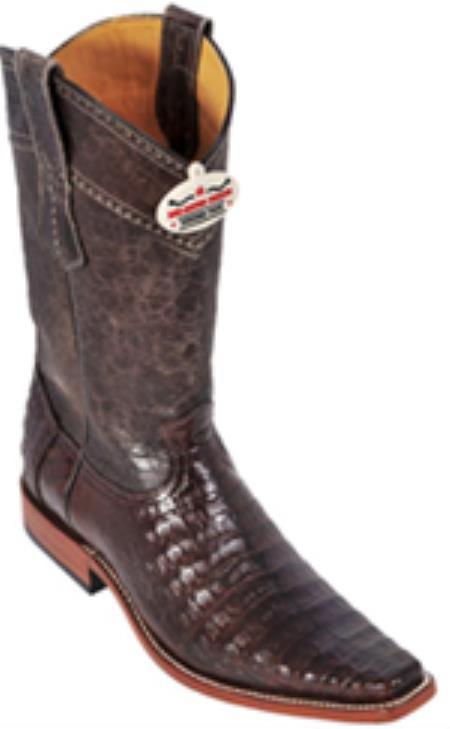 caiman ~ World Best Alligator ~ Gator Skin Belly Brown Vintage Los Altos Men's Cowboy Boots Western Riding