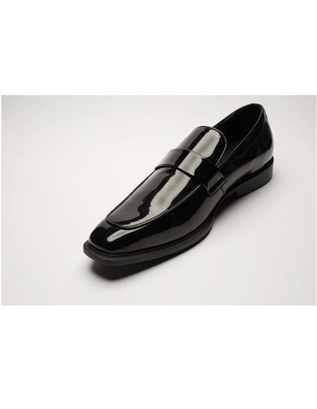 Men's Two Toned Black Slip-on Style Casual Dress Shoes