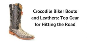 Crocodile Biker Boots and Leathers Top Gear for Hitting the Road