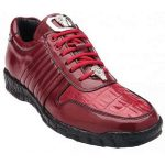 Belvedere Astor Genuine Red Crocodile / Soft Calfskin Casual Sneakers for men