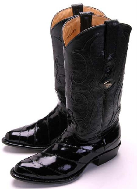 Eel Classy Black Los Altos Men's Cowboy Boot ~ botines para hombre Western Classics Riding