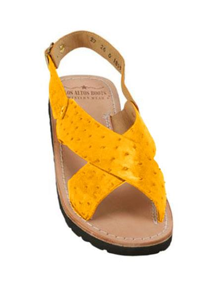 Mens Exotic Skin Buttercup Sandals in ostrich or World Best Alligator ~ Gator Skin or Stingray skin in White or Black or Red or Tan or Brown or Copper or Olive colors
