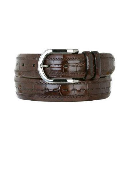 Mezlan Belts Brand Men's Genuine World Best Alligator ~ Gator Skin Sport Skin Belt