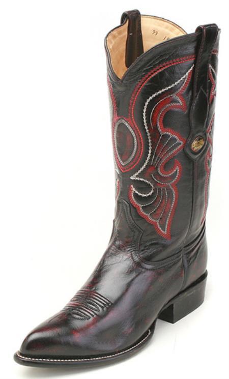Goat Leather Black Los Altos Men's Cowboy Boot ~ botines para hombre Western Classics Riding