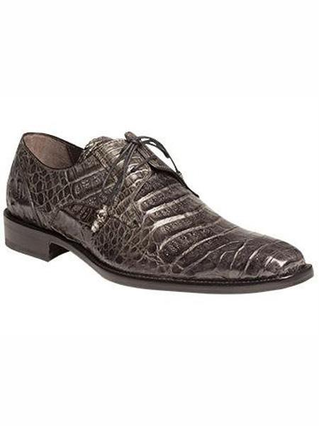 Mezlan Brand Grey Genuine Crocodile Wrapped Tassel Shoes