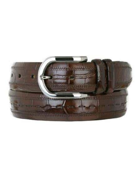 Mezlan Belts Men's Handcrafted Sport Genuine World Best Alligator ~ Gator Skin Skin Belt