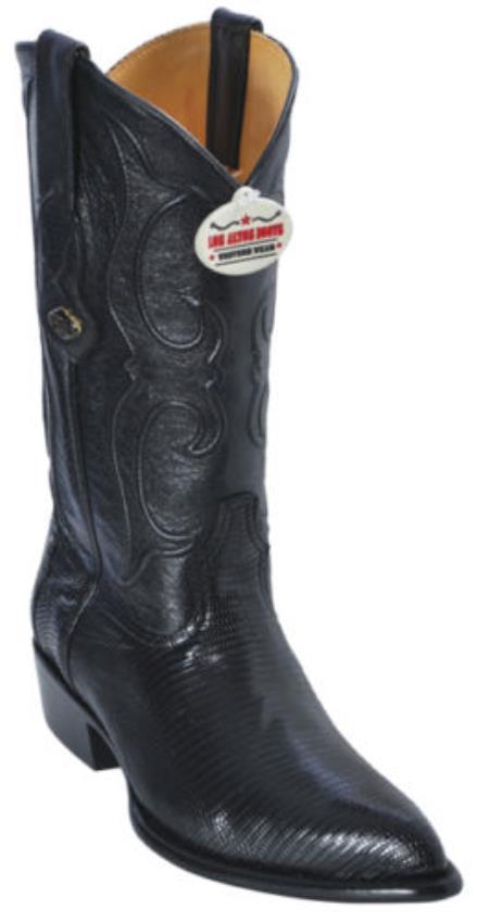 Ring Lizard Black Los Altos Men's Cowboy Boots Western Classics Riding Style
