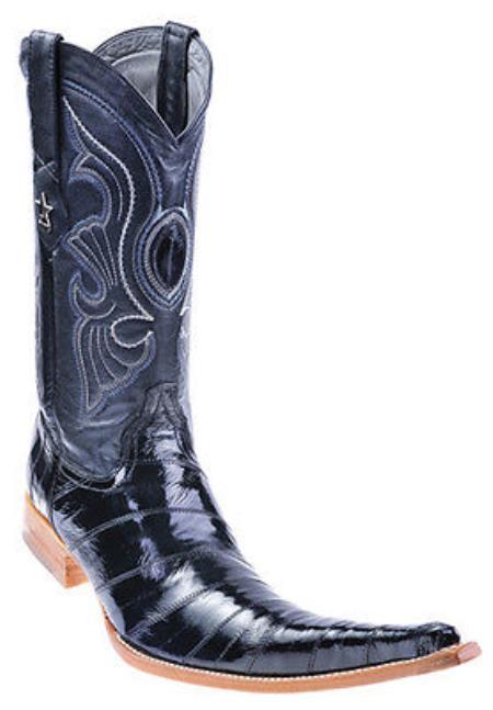 7f2bdeaa148 Eel Classy Black Los Altos Men's Cowboy Boots Western Classics Riding