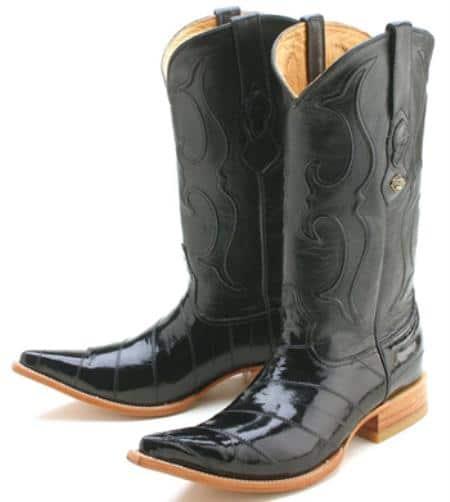 Eel Classy Black Los Altos Men's Cowboy Boots Western Classics Riding