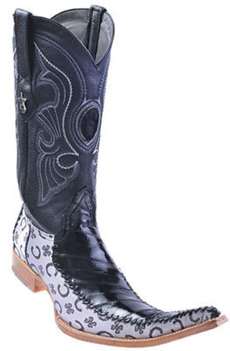 Ostrich Leg Leather White Los Altos Men's Western Boots Cowboy Classics 3x Toe