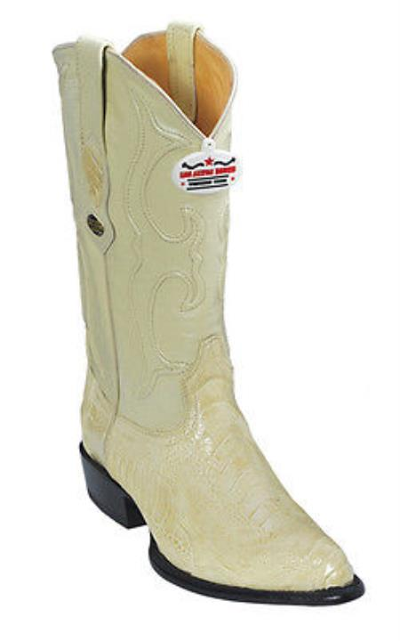Ostrich Leg Cream ~ Ivory ~ Off White Los Altos Men's Cowboy Boots Western Classics Rider