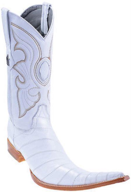 Eel Classy Vintage Riding White Los Altos Mens Western Boots Cowboy Classics
