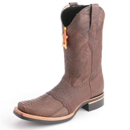 Los Altos Brown Boots Genuine Ostrich Skin