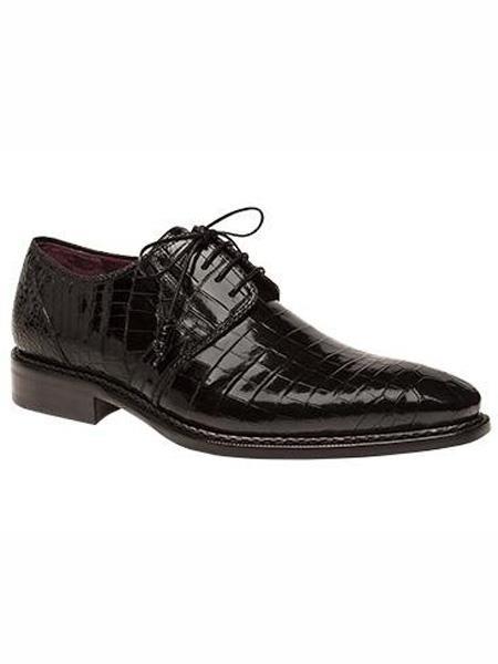 Mens USA - View More: > Mezlan Mens Shoes   Mezlan Brand Marini Style Black Genuine World Best Alligator ~ Gator Skin Oxford Shoes