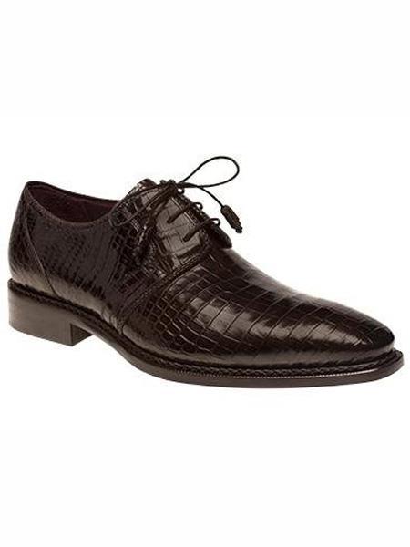 Mezlan Brand Marini Style Brown Genuine World Best Alligator ~ Gator Skin Oxford Shoes