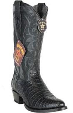 Mens Los Altos Handcrafted Round Toe Genuine Caiman Belly Black Boots