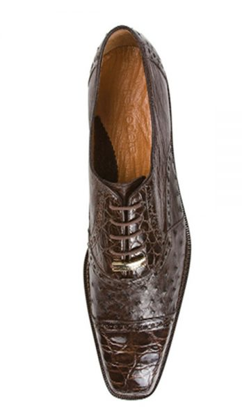 Authentic Genuine Skin Brown Italian Cap Toe Lace UP Oxford