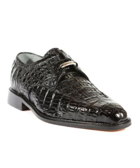 Mens Susa Black Oxford Belvedere Shoes