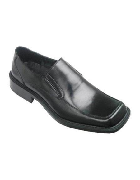 Zota Mens Unique Dress Unique Zota Mens Dress Shoe Brand Mens Black Slip-On Style Leather Loafer