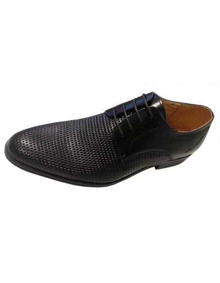 Zota Mens Unique Dress Shoes Brand Mens Black Italian Design Textured Lace Style Unique Zota Mens Dress Shoe