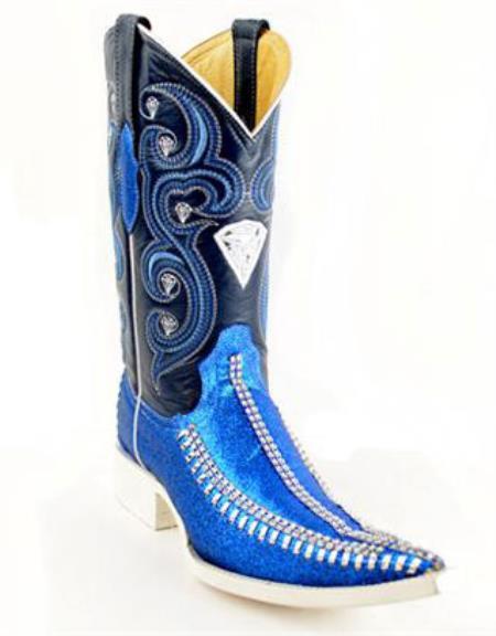 Bota Vaquera Fashion Azul
