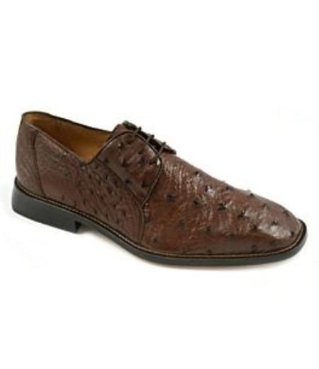 Brown Quill Ostrich Upper Fully  Leather Insole Leather