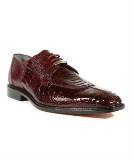Mens Siena Burgundy ~ Wine ~ Maroon Color Oxfords Belvedere Shoes