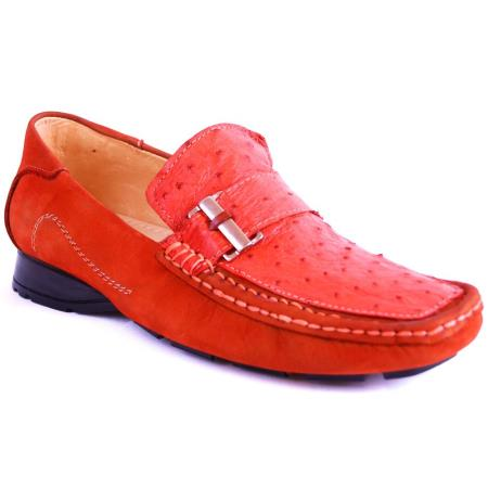 Zapato Avestruz Cognac