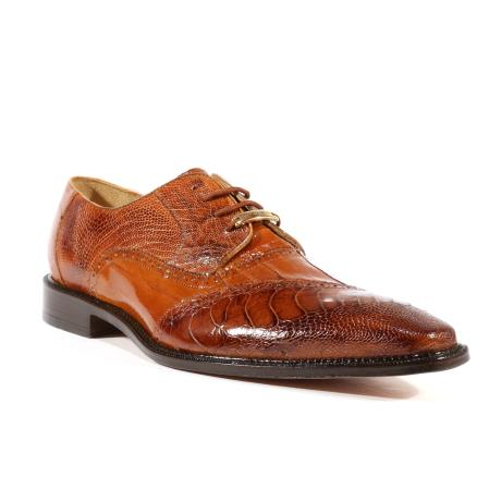Mens Nino Eel Ostrich Camel Oxfords Belvedere Shoes