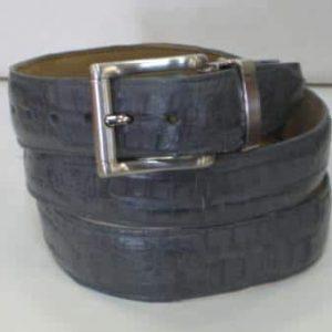 Mens-Gray-Gator-Skin-Belt-14604