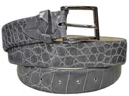 Real Authentic Skin Grey All-Over Genuine World Best Alligator ~ Gator Skin Belt